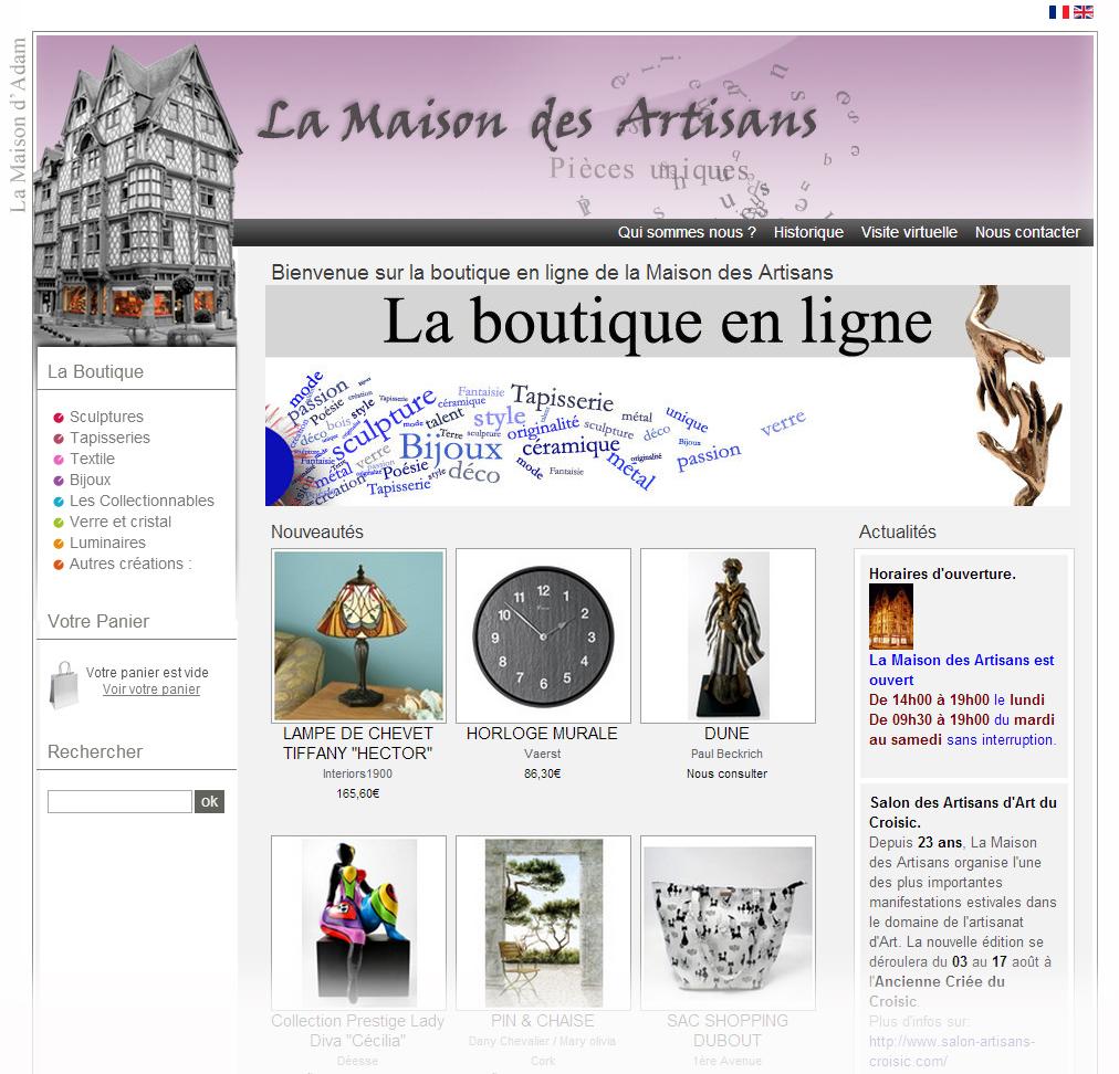 site boutique maison des artisans copie