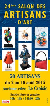 affiche salon des artisans d'art du Croisic 2014